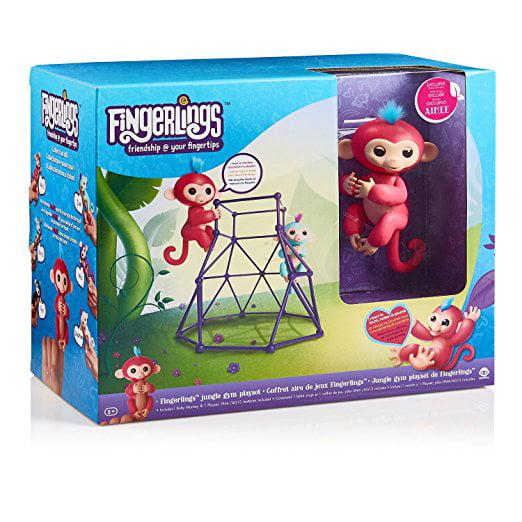 Wow Wee Fingerlings Jungle Gym Play Set w/ 1 Monkey