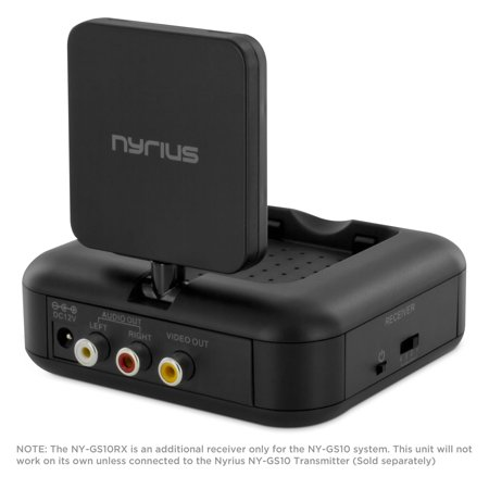 - Additional Receiver Only for the Nyrius 5.8 GHz Wireless Audio/Video System (Sold Separately) with IR Remote Extender for Streaming Cable, Satellite, DVD - Does Not Include Transmitter (NY-GS10RX)