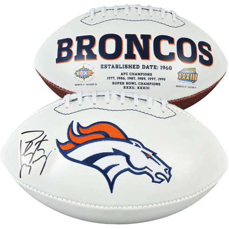 (Peyton Manning Denver Broncos Autographed White Panel Football - Fanatics Authentic Certified)