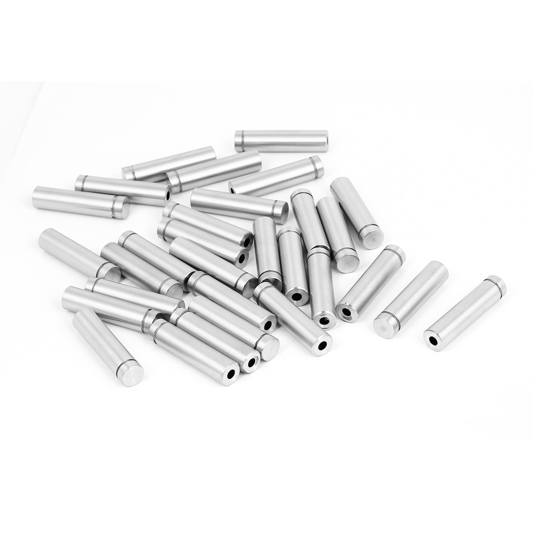 Unique Bargains 12mmx50mm Stainless Steel Decorative Advertising Screw Nails Silver Tone 30Pcs