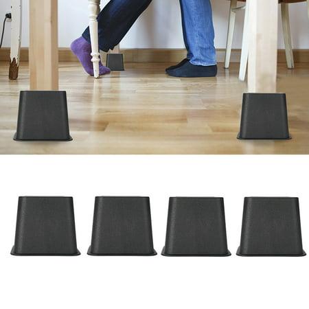 Cergrey 4pcs / set 3 élévateurs de meubles chaise de lit réglable Riser pieds larges élévateurs, supports de lit, élévateurs de meubles - image 1 de 7