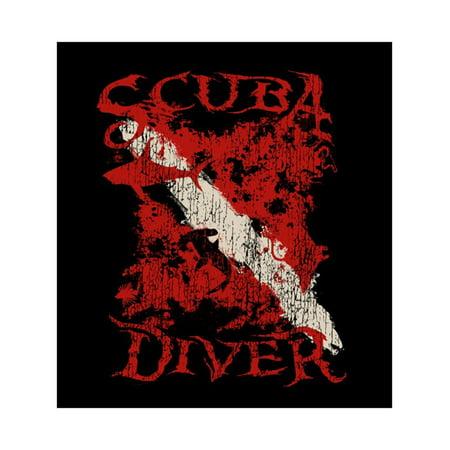 Amphibious Outfitters T-Shirt - Scuba Diver - Black - Dive (Dive Flag T-shirt)