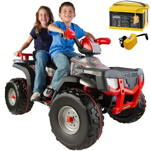 Peg Perego Polaris Sportsman XP850 with additional Battery and Charger Silve by