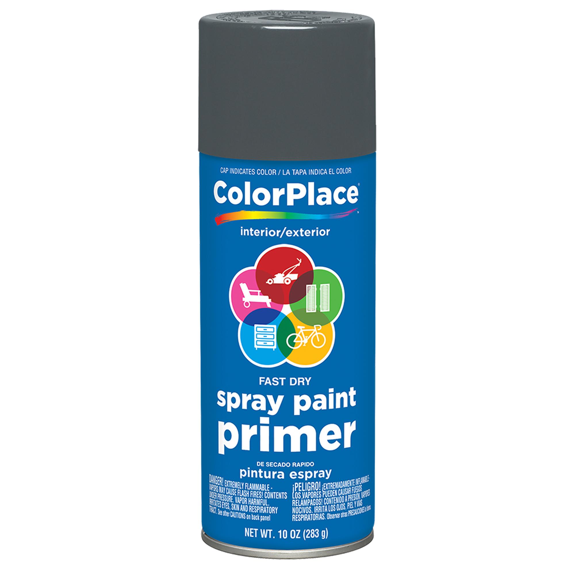 Color Place Gray Primer Spray 11 oz - Walmart.com
