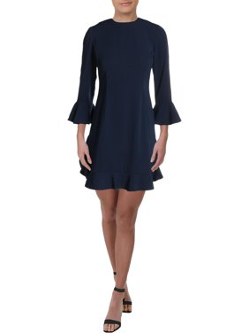 Ruffled Bell-Sleeve Dress