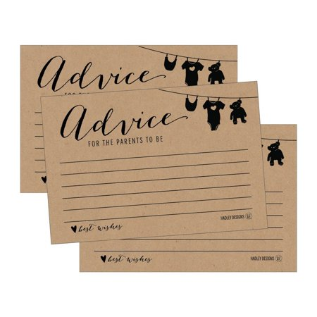 25 Rustic New Mommy or Parent Advice Cards For Baby Shower Game Activities Ideas, Expecting Words of Wisdom Message for Parent To Be Boy Girl Co-Ed Couples Gender Reveal Keepsake Alternative Guestbook](Halloween Games Party Ideas)