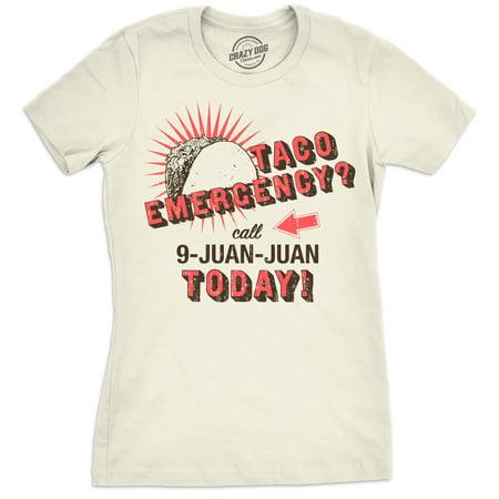 Womens Call 9 Juan Juan Tshirt Funny Cinco De Mayo Taco Burrito Tee For Ladies (Cinco De Mayo Shots)