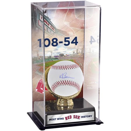 Boston Red Sox Glove (Andrew Benintendi Boston Red Sox Autographed Baseball and Most Wins in Franchise History Gold Glove Display Case with Image - Fanatics Authentic)