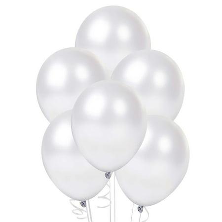 "50 pcs 12"" Latex Balloons Pearl White Colour birthday wedding celebrations"