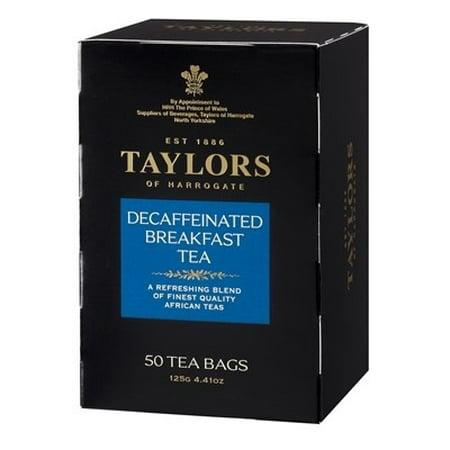 Taylors of Harrogate Decaffeinated Breakfast Tea, 50 Tea