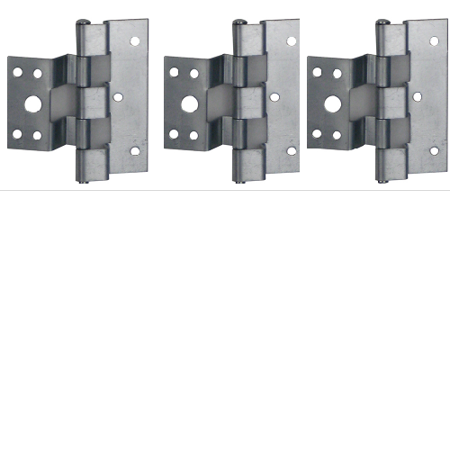 Zinc Screen Door Hinge - Elixir Exterior Door Hinge for Combination Doors (3 Pack) Zinc for Mobile Homes