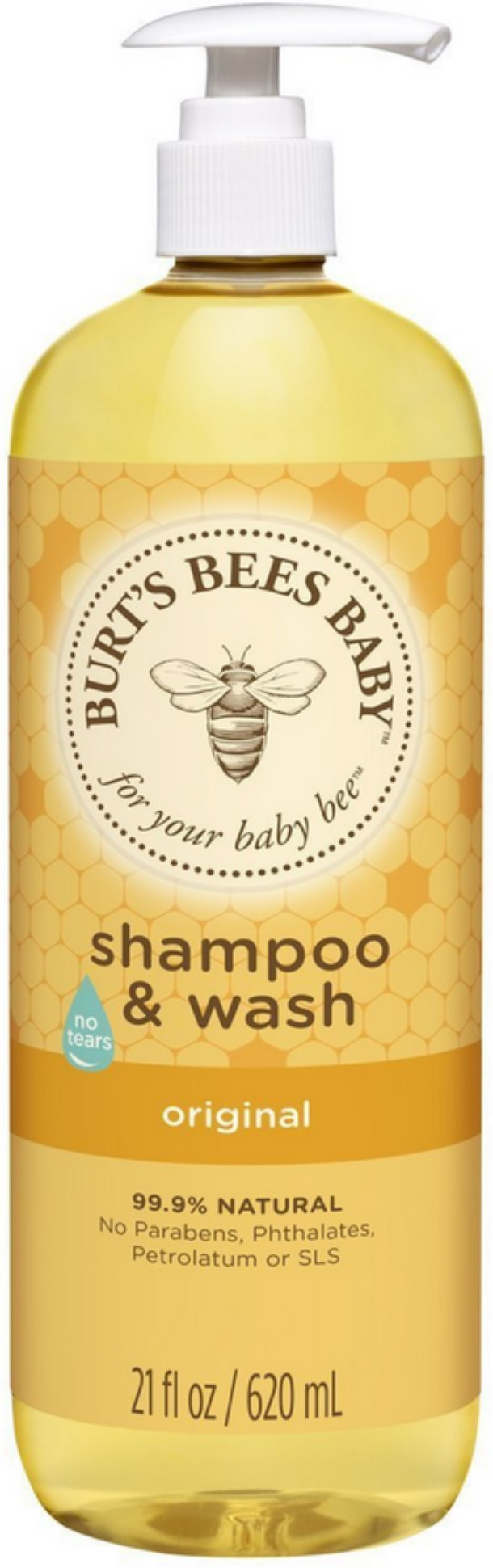 4 Pack Burt's Bees Baby Shampoo & Wash, Original 21 oz by