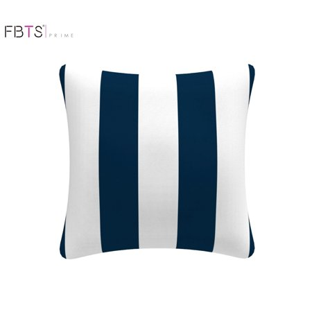 Magnificent Throw Pillow With Insert Indoor Outdoor 18 By 18 Inches Decorative Square Cushion Cover Pillow Sham Navy Blue White Stripe For Couch Bed Sofa Pabps2019 Chair Design Images Pabps2019Com