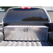 TMS 49IN Heavy Duty Aluminum Cross Bed Camper Tool Box Tote Storage for Pickup Truck Trailer Tongue With Lock