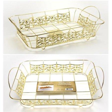 Decorative Pan Holder - Roaster Size - Gold - Hanna K. Signature Elements Case of 12 - image 1 of 1