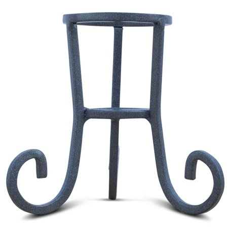 Black Wrought Iron Stand - Black Wrought Iron Metal Egg Stand Holder 4.25 Inches