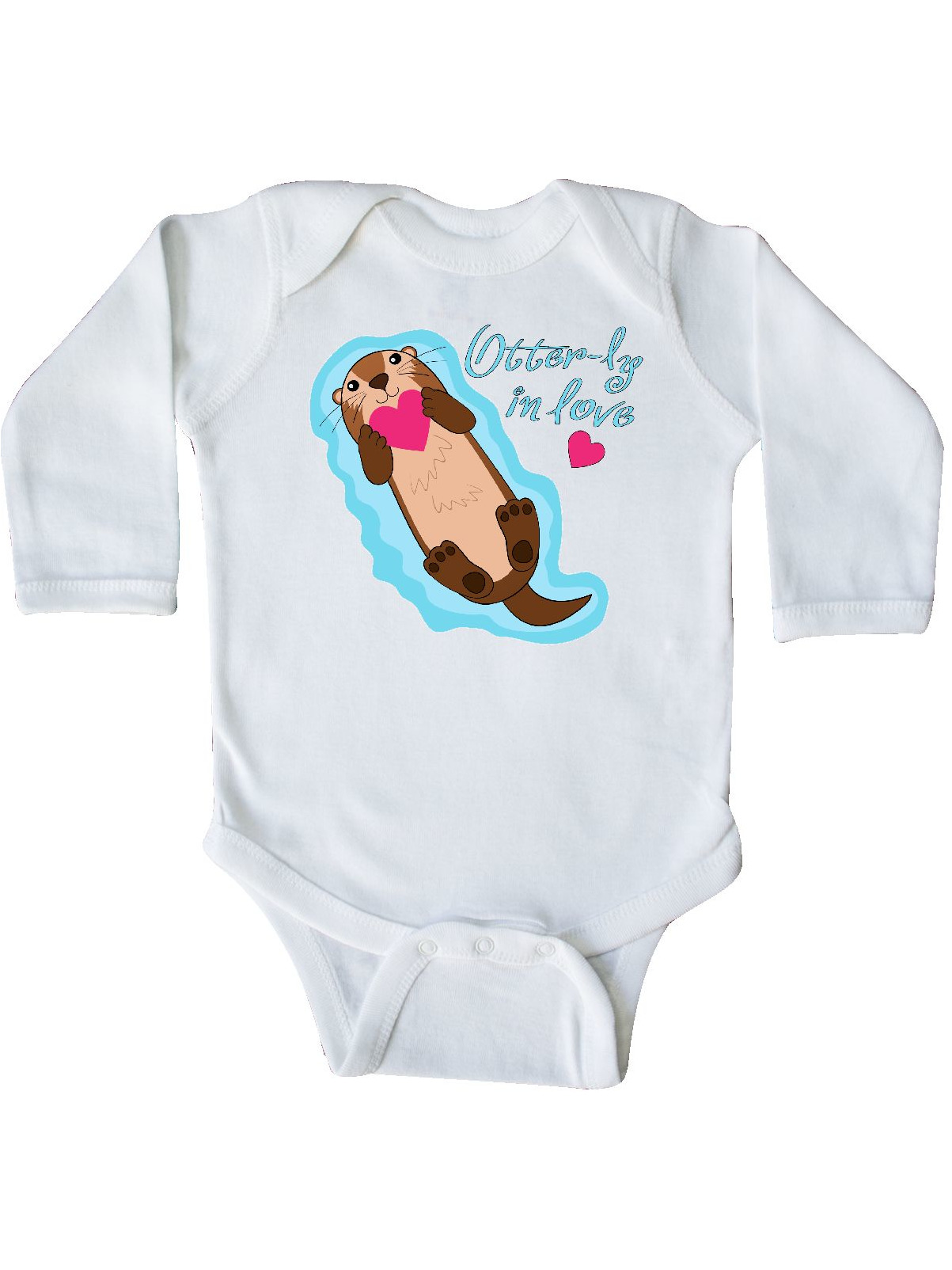 inktastic Relaxing Otter Long Sleeve Creeper
