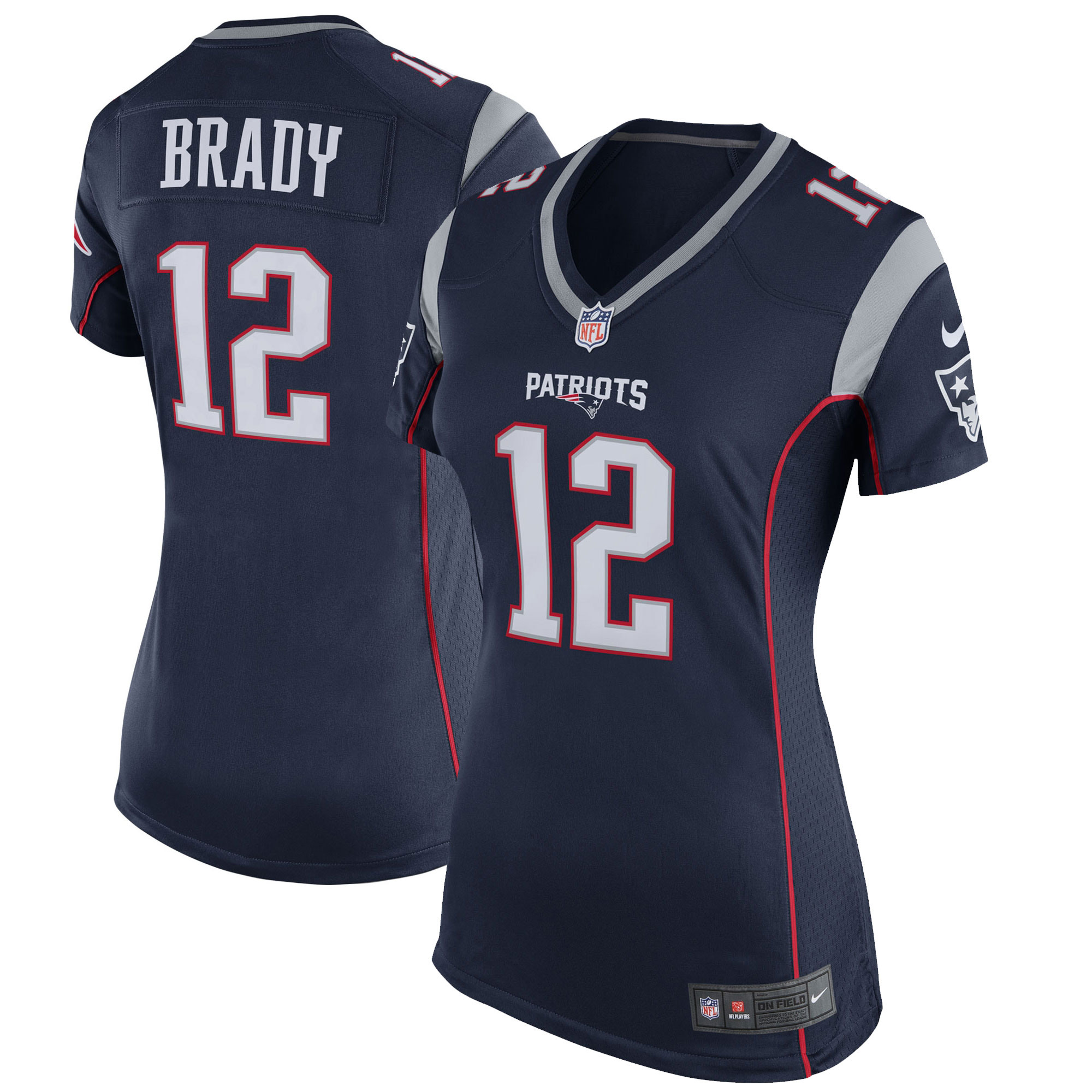 Tom Brady New England Patriots Nike Women's Game Jersey - Navy Blue
