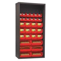 Durham MFG 5003-30-1795 HDEnclosdShelving,36inWx72inHx,18inD,Red