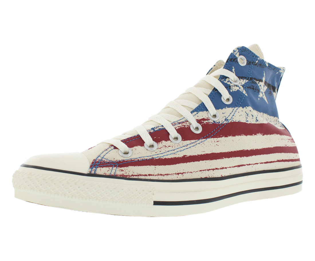 Converse Chuck Taylor All Star Hi USA Flag Print Shoes Size by Converse