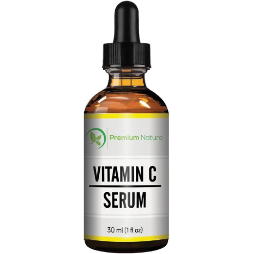 Premium Nature 20% Vitamin C Face Serum With Hyaluronic Acid, 1oz by Premium Nature