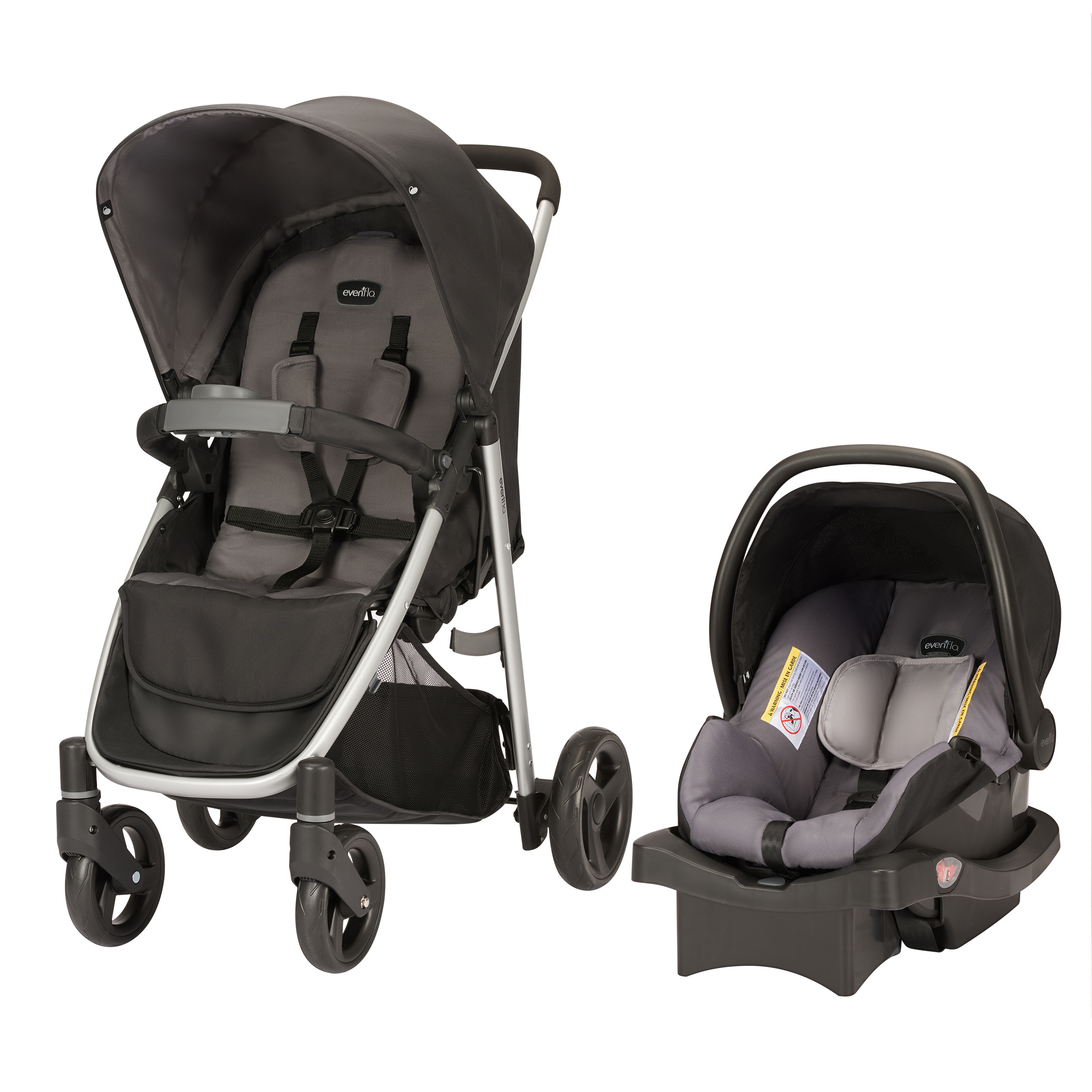 Evenflo FlipSide Travel System, Glenbarr Grey
