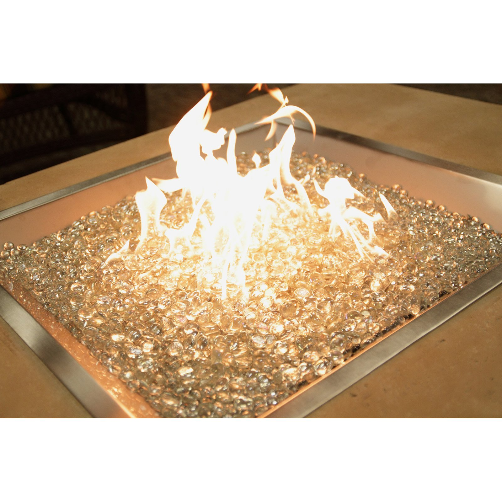 Outdoor GreatRoom 24 in. Square Burner with Glass Gems
