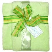 "Raindrops Unisex Baby Flurr Receiving Blanket, Sage, 28"" X 36"""