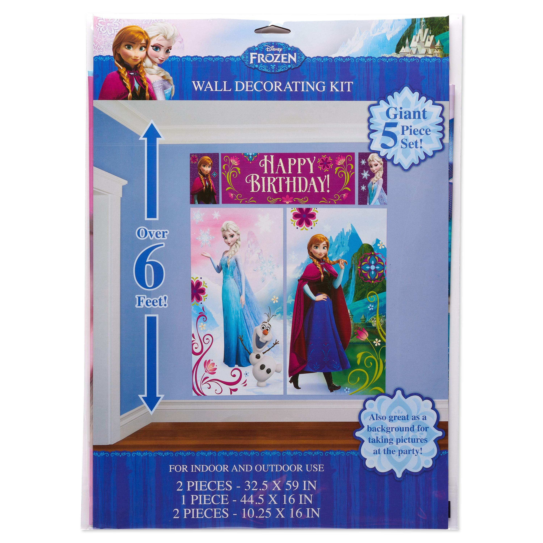 Disney Frozen Birthday Party Wall Decorations 5 Count Walmart Com