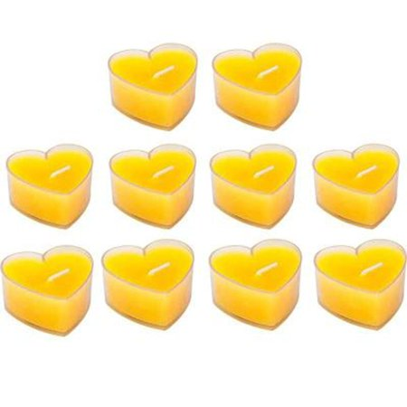 10pcs Paraffin Heart Shaped Decorative Candles Romantic Candle Party Decoration - Heart Shaped Candles