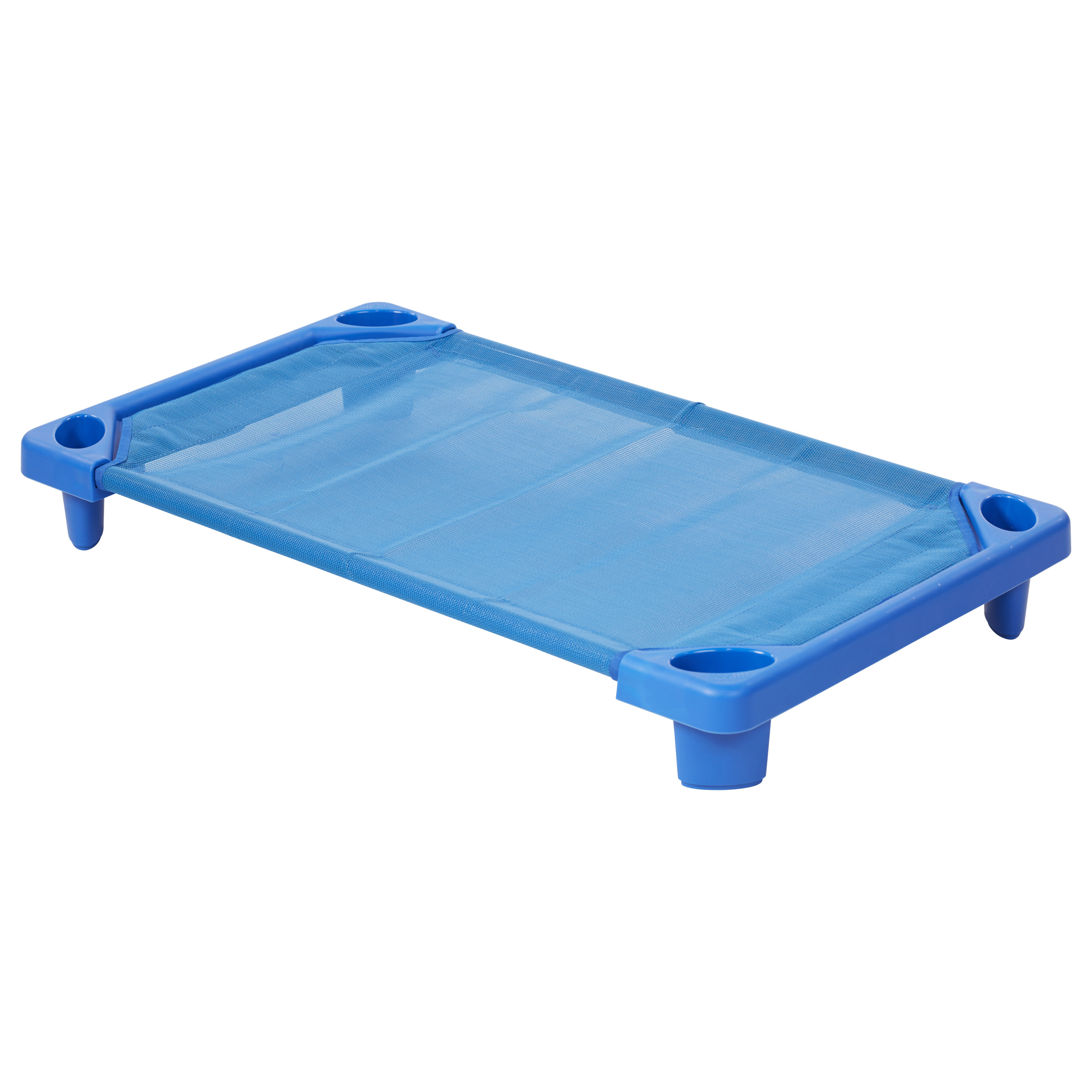 Streamline Cot Single Toddler Assembled Blue by ECR4Kids