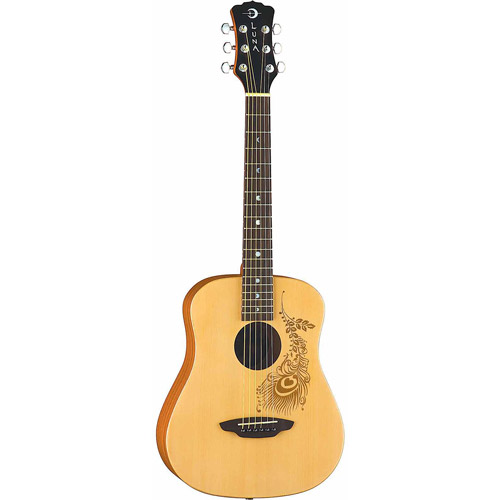 Luna Safari Henna Travel Guitar with Gigbag by Luna