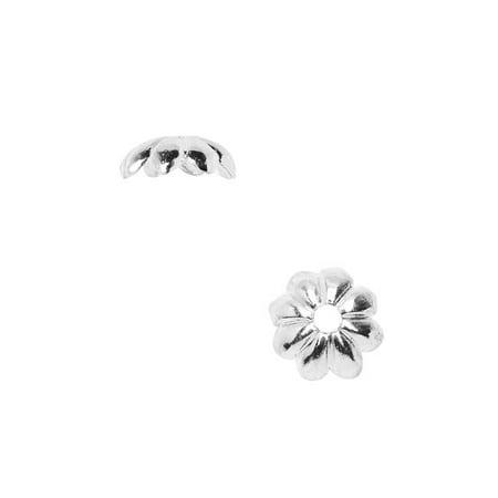 Nunn Design Bead Caps, 6mm Floral Petals, 4 Pieces, Bright (Bright Petal)