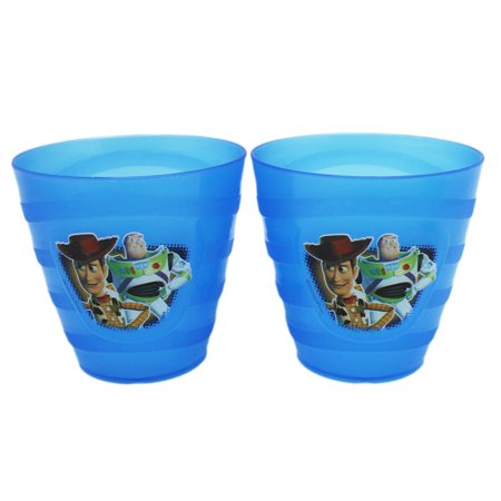 Disney Pixar's Toy Story Buzz and Woody Kids Small Blue Cup Set (2pc) - Toy Story Cups