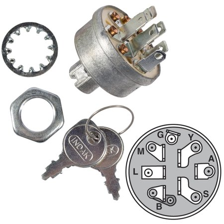 MaxPower 9623 Ignition Switch for AYP, Roper, Sears, Briggs and Stratton, Husqvarna, MTD and Murray replaces OEM # 140301, 532140301, 5412H, 5412K, 725-1717, 9251717, 92556