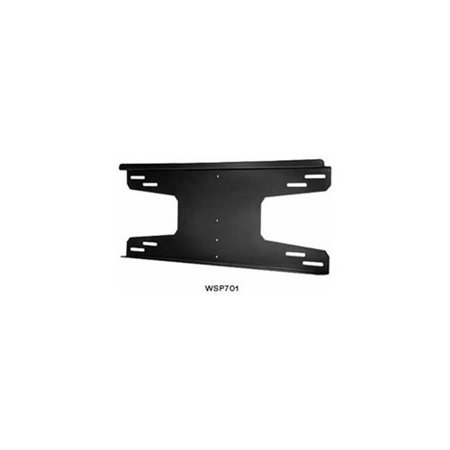 Peerless Wsp701 Mounting Adapter For Flat Panel Display - 80 Lb Load Capacity - Gloss Black