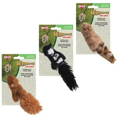 Ethical Pet Skinneeez Forest Animal Catnip Cat Toy