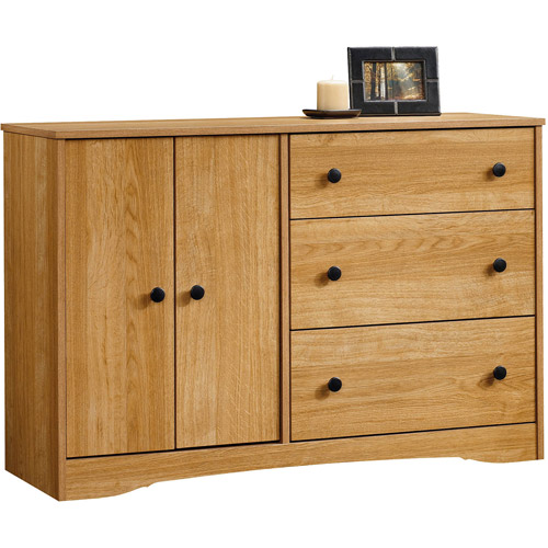 Sauder Beginnings 3-Drawer Dresser, Highland Oak Finish
