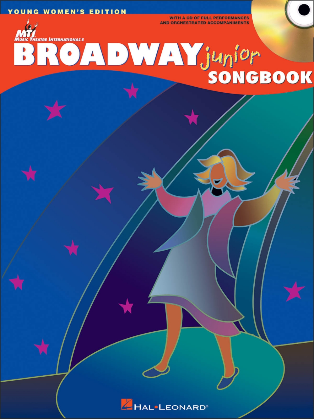 Hal Leonard Broadway Junior Songbook Young Women's Editon Book CD by