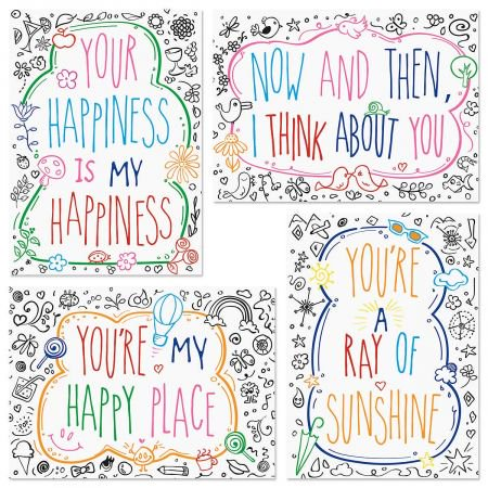 Just because thinking of you greeting cards and matching envelope just because thinking of you greeting cards and matching envelope seals set of 8 m4hsunfo