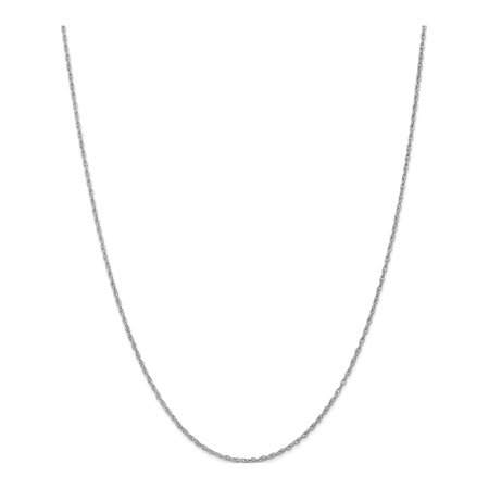 Leslie or blanc 14K 1,5 mm corde pendentif - image 5 de 5