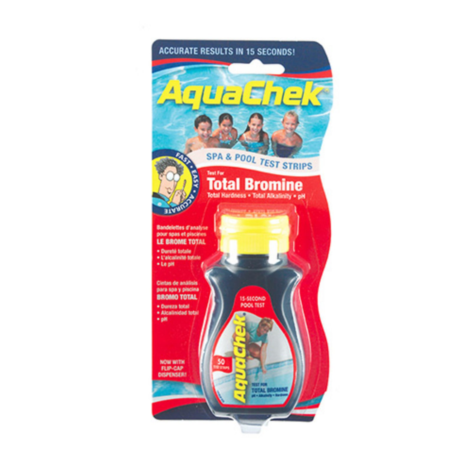 Aquachek Red Bromine Test Strips for Pools and Spas, 50 Strips