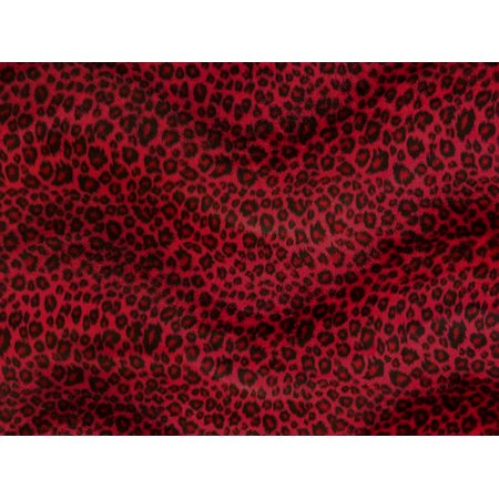 "Velboa Faux Fur CHEETAH RED Fabric 60""/ Sold by the Yard"
