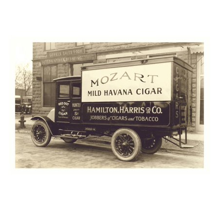 Mozart Mild Havana Cigar Truck Print Wall
