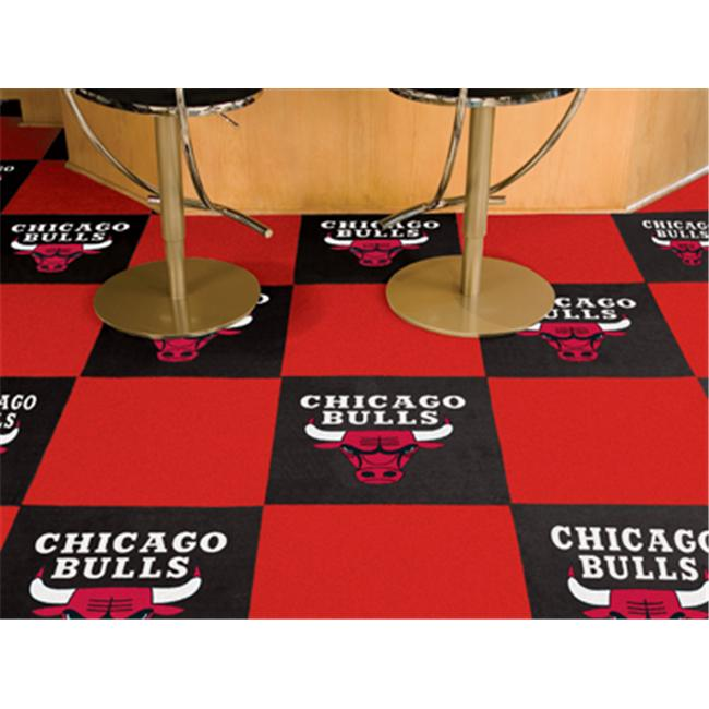 Fan Mats 9228 Chicago Bulls Carpet Tiles 18 in. x 18 in. ...