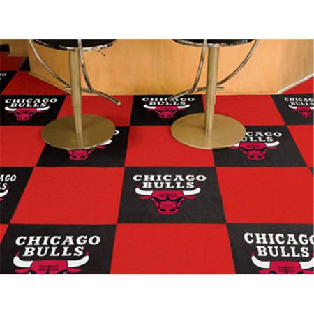 Fanmats 9228 Chicago Bulls Carpet Tiles 18 In  X 18 In  Tiles
