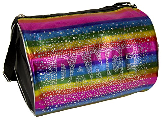 Princess Dance Duffle Bag Rainbow Shimmer Holographic Sequin by
