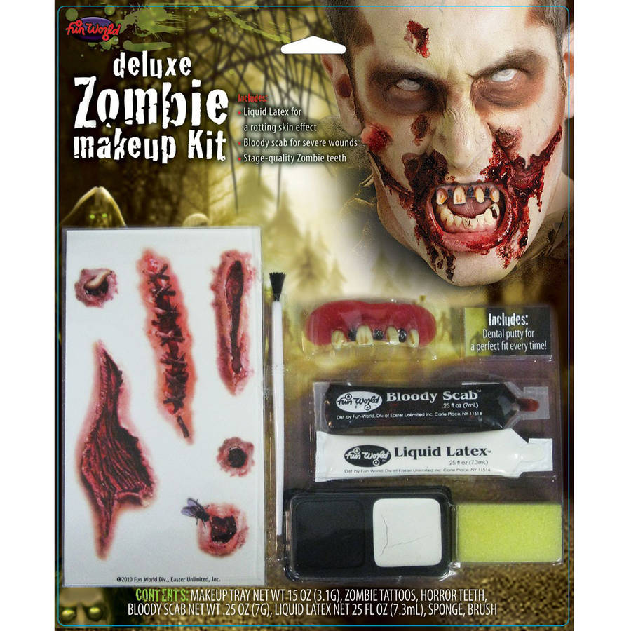 Deluxe Zombie Halloween Makeup Kit