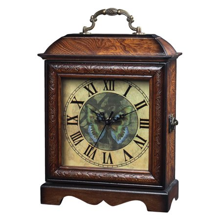 Elk Lighting Green Butterfly Carriage Clock