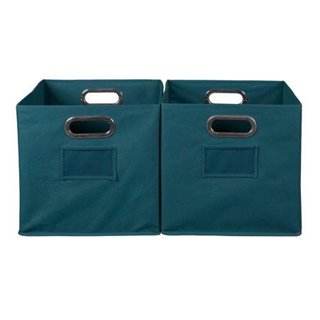 Niche Cubo Foldable Fabric Storage Bin, Set of 2- Teal for $<!---->